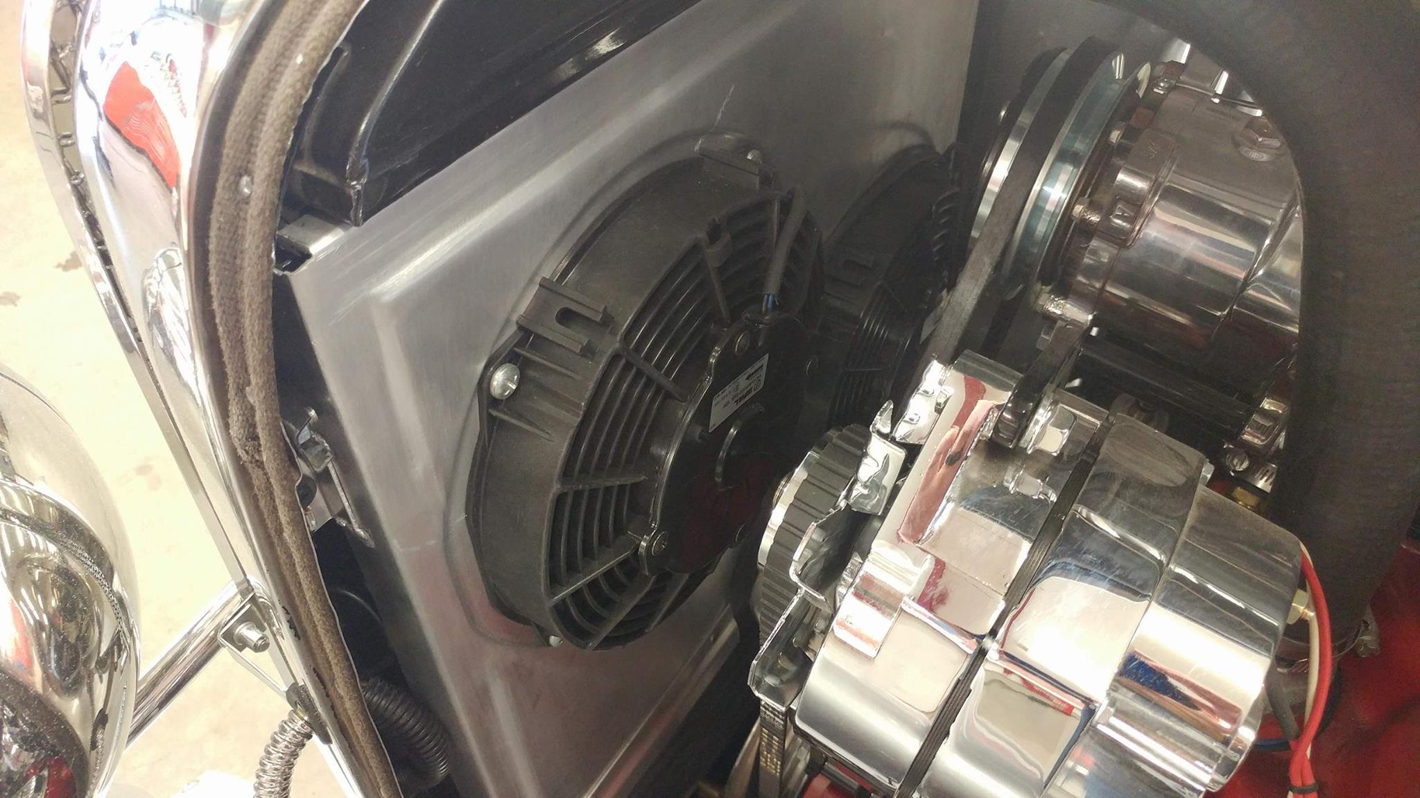 custom dual electric fan shroud